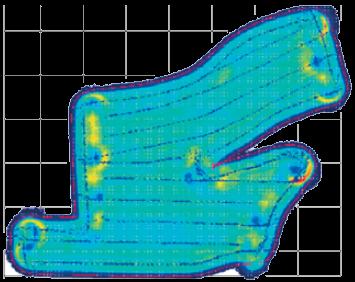 Aplikační mapa - aktivovaný systém ECONOV