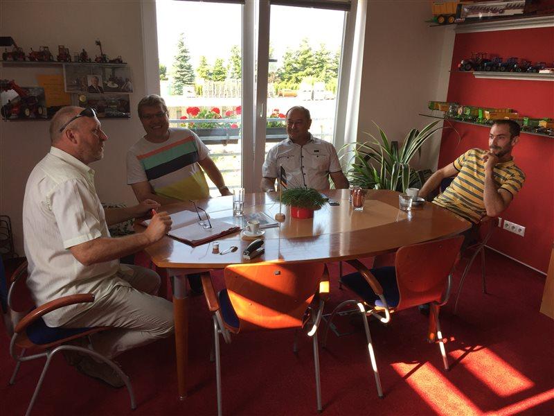 Na fotce zleva: Milan Hájek, Josef Vojta, Karel Pačiska, Miloš Mička