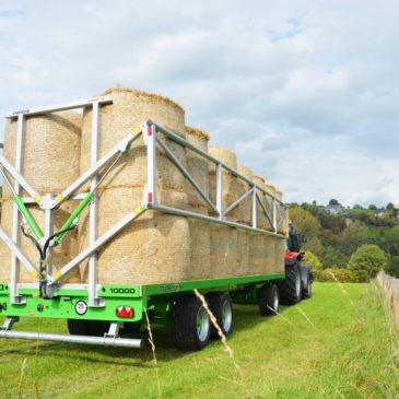 Hydraulické bočnice na tažených přepravnících balíků Joskin WAGO